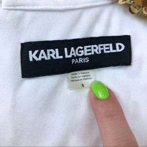 Karl Lagerfeld Dresses - Karl Lagerfeld • White Fit & Flare Dress